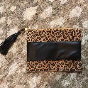 Handbags - Large leopard clutch